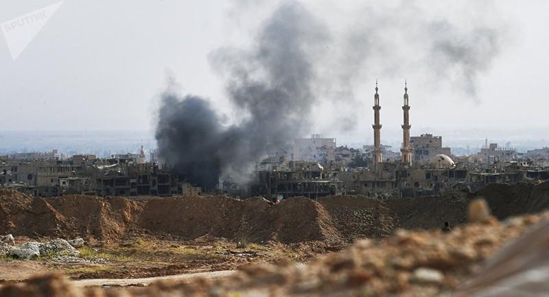 Đoàn xe 200 quân IS tan tác dưới mưa bom của Nga - ảnh 1