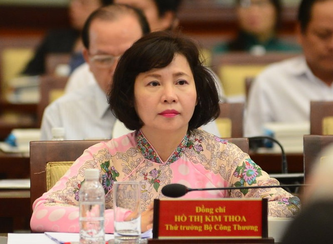Miễn nhiệm Thứ trưởng Bộ Công Thương Hồ Thị Kim Thoa - ảnh 1