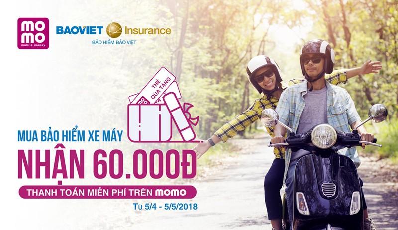 Bảo hiểm Bảo Việt bán bảo hiểm xe máy qua ví Momo - ảnh 1