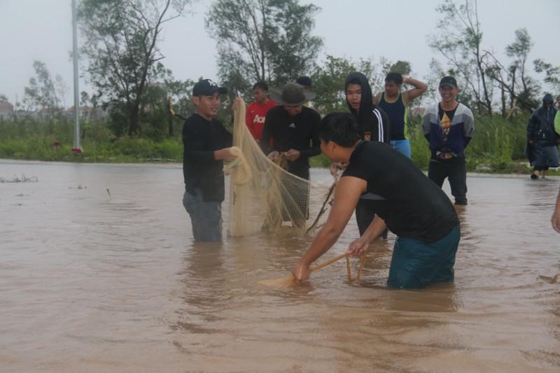 Sau bão số 10, dân Quảng Bình quăng chài giữa phố  - ảnh 3