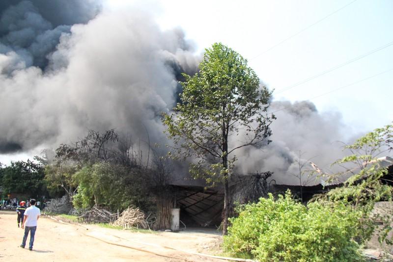 Nhà xưởng cháy dữ dội, người dân giúp di dời tài sản - ảnh 3