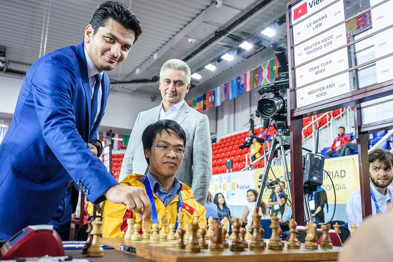 2 đội tuyển Việt Nam nhận trận thua đầu tiên tại Olympiad - ảnh 3