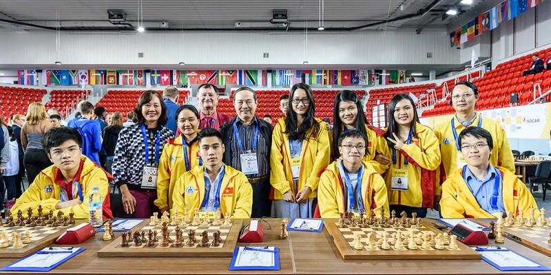 Thắng tuyệt đối Thụy Sĩ, Việt Nam gặp Đức tại vòng 10 Olympiad - ảnh 1