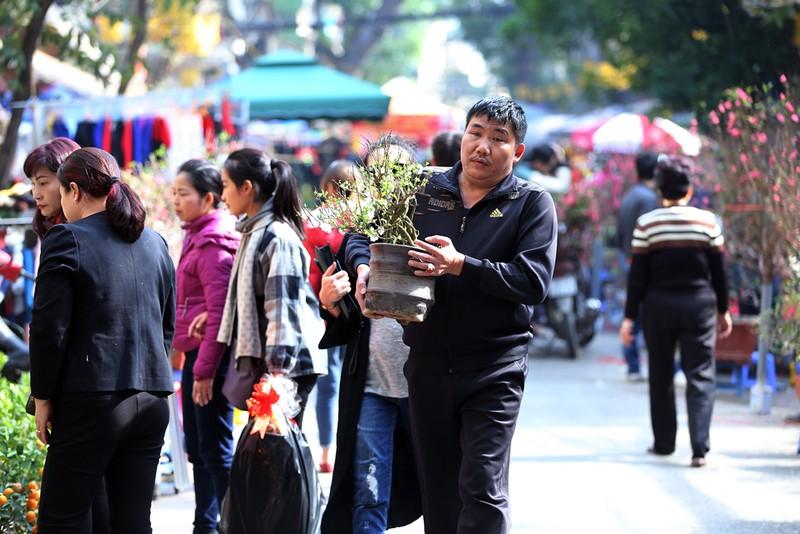 Chợ hoa Hàng Lược nhộn nhịp những ngày giáp Tết - ảnh 8