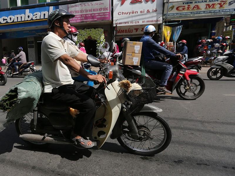 Chợ lá dong ngày Tết ven đường ở TP.HCM - ảnh 15
