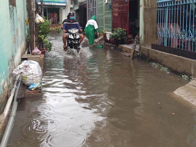 Mưa đột ngột giữa mùa khô, TP.HCM ngập cục bộ - ảnh 2