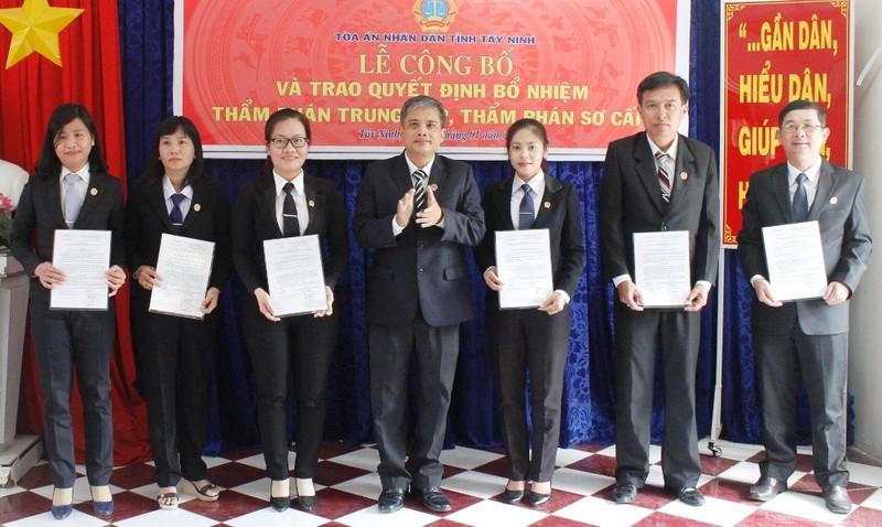 Tây Ninh: Bổ nhiệm mới 19 thẩm phán  - ảnh 1