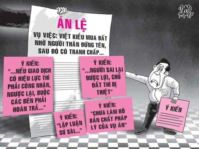Cần hủy án lệ Việt kiều nhờ đứng tên mua đất - ảnh 1