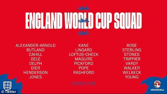 Southgate giải thích về lựa chọn 23 cầu thủ Anh dự World Cup - ảnh 4