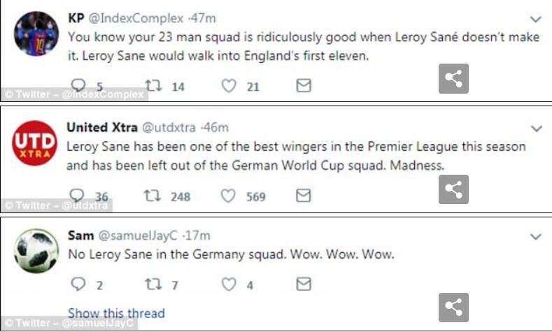 Thế giới giận dữ, than khóc vì Sane bị Đức loại khỏi World Cup - ảnh 5