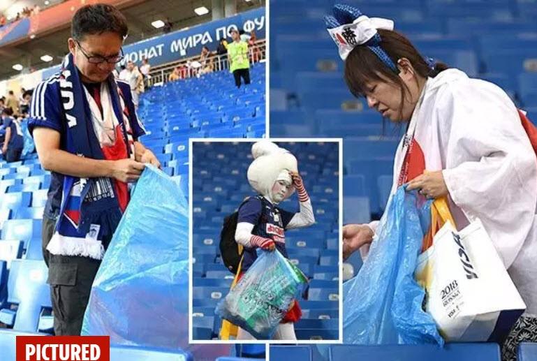Thua đau Bỉ, người Nhật vẫn hành động khiến thế giới nể phục - ảnh 2
