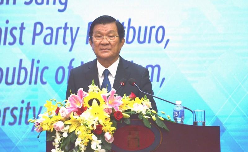 Ông Trương Tấn Sang nói về vấn đề giáo dục đại học  - ảnh 1
