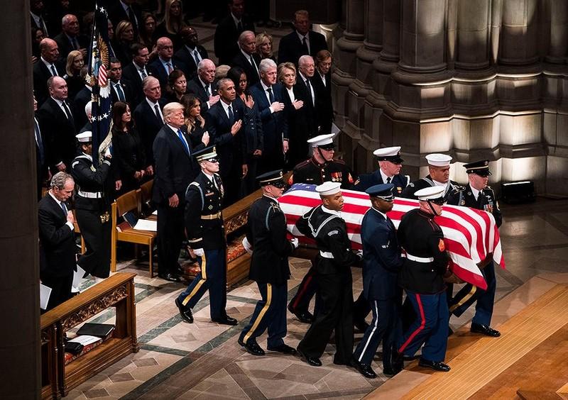 Những điểm nhấn tại đám tang cựu Tổng thống George H.W. Bush  - ảnh 6