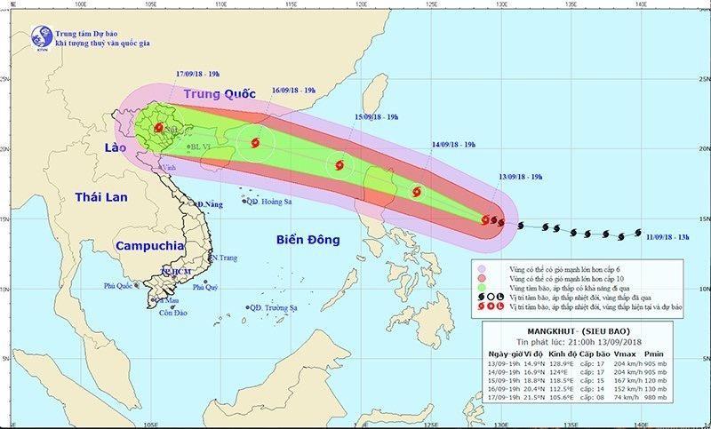 Siêu bão Mangkhut sẽ gây mưa to ở Bắc bộ và Bắc Trung bộ - ảnh 1