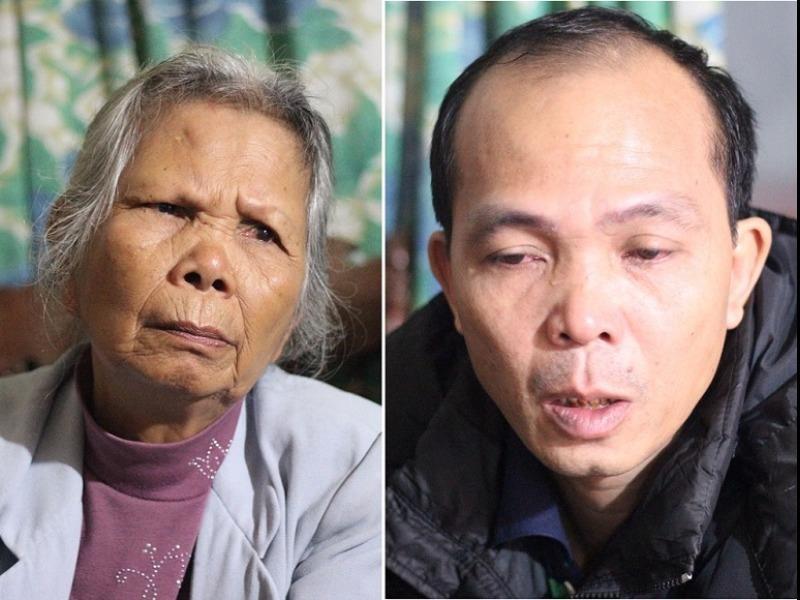 Cụ Đặng Thị Nga cùng con trai là ông Trịnh Huy Dương. Ảnh: TP