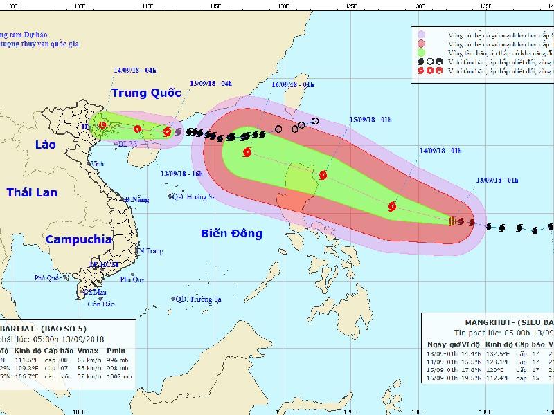 Siêu bão Mangkhut nhiều khả năng ảnh hưởng trực tiếp Việt Nam - ảnh 1