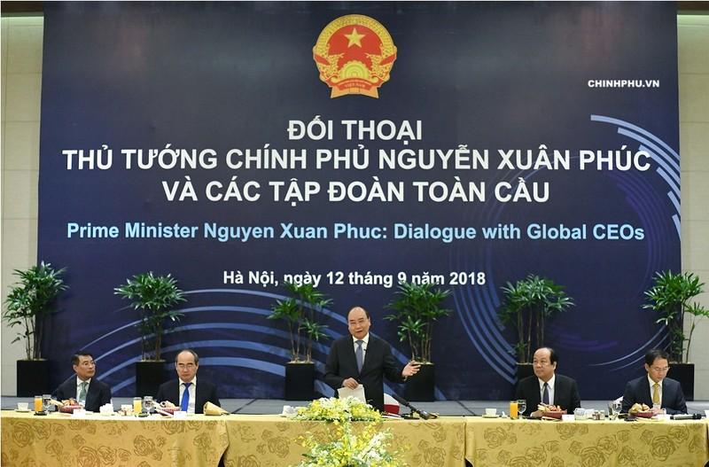 Thủ tướng đối thoại với các tập đoàn lớn toàn cầu - ảnh 1