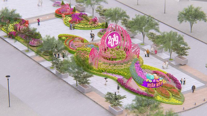 Cặp heo cao gần 3m trên đường hoa Nguyễn Huệ Tết 2019 - ảnh 4