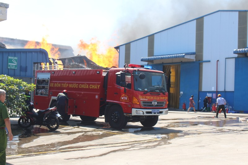 Biển lửa bao trùm công ty tại Bình Dương - ảnh 1