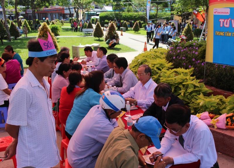 Quận Tân Phú tổ chức thi Luật Giao thông đường bộ  - ảnh 1