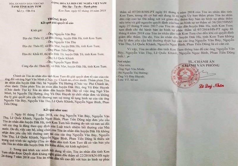 5 người bị oan 'đòi' văn bản kháng nghị từ TAND Tối cao - ảnh 1