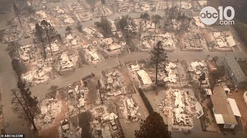 Thị trấn ở California hoang tàn sau thảm họa cháy rừng - ảnh 1
