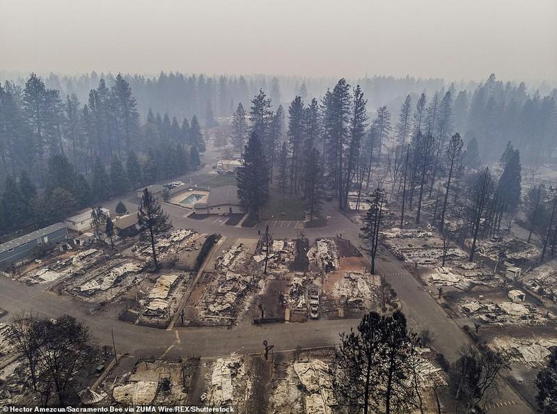Thị trấn ở California hoang tàn sau thảm họa cháy rừng - ảnh 6