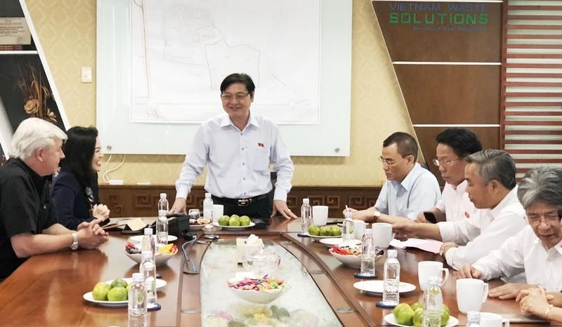 Đoàn giám sát của Quốc hội thăm, làm việc rác Đa Phước - ảnh 2