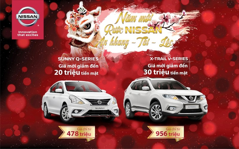 Nissan X-Trail V-series và Sunny Q-series giảm giá dịp Tết - ảnh 1