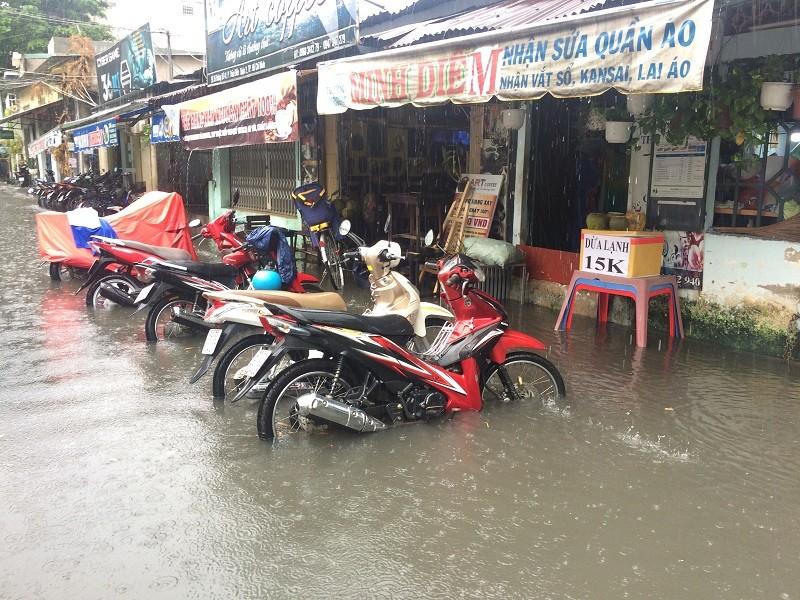 Mưa ngập bao vây khu biệt thự ở Sài Gòn - ảnh 3