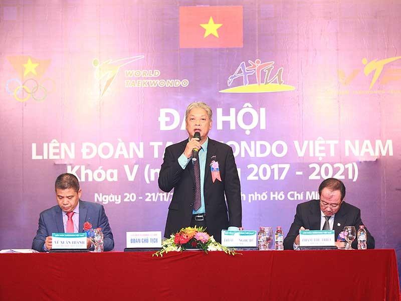 Ông Trương Ngọc Để tái đắc cử chủ tịch LĐ Taekwondo VN - ảnh 2
