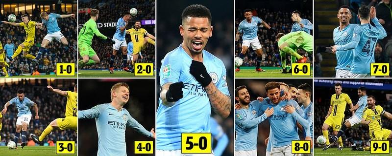Man. City thắng đậm với tỉ số không tưởng ở bán kết League Cup - ảnh 1