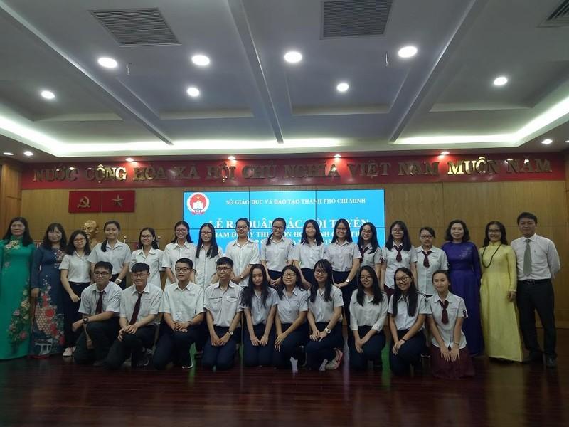 177 học sinh TP.HCM xuất quân thi học sinh giỏi Quốc gia 2019 - ảnh 2