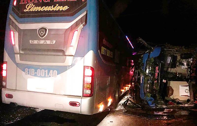 Hai xe khách tông liên hoàn ở Bình Định là cùng một chủ xe - ảnh 1