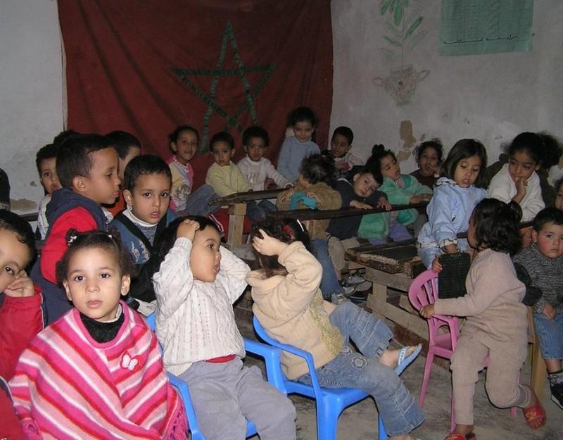 Lớp học mẫu giáo trong lòng phố cổ.