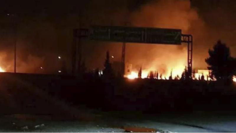 Tên lửa được cho là của Iran bị Israel đánh chặn ở Cao nguyên Golan khuya 9-5. Ảnh: AP