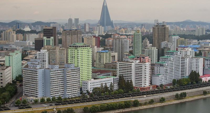 Thủ đô Bình Nhưỡng (Triều Tiên) trong một lần duyệt binh. Ảnh: AFP