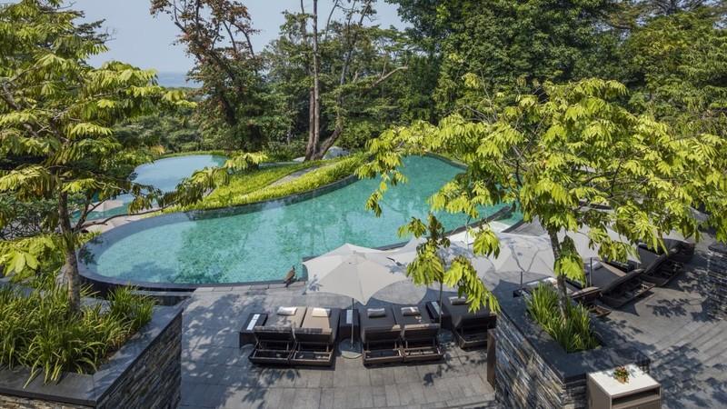 Quang cảnh khách sạn Capella nằm trong khu nghỉ mát Sentosa của Singapore là nơi được chọn tổ chức thượng đỉnh Mỹ-Triều. Ảnh: CNN