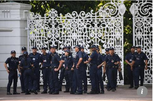 Cảnh sát Singapore được đặt vào tình trạng báo động cao nhiều ngày nay vì an ninh thượng đỉnh Mỹ-Triều. Ảnh: SCMP