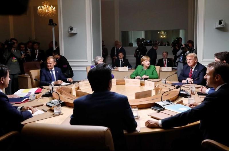 Các lãnh đạo G7 họp tại Quebec (Canada) cuối tuần rồi. Ảnh: REUTERS