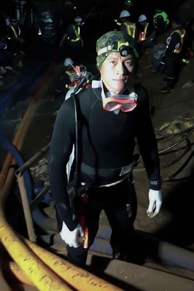 Thợ lặn Samarn, cựu binh Thai Seals thiệt mạng sáng sớm 6-7 vì thiếu ô xy khi đang lặn cứu hộ trong hang động. Ảnh: ROYAL THAI NAVY