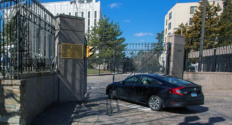 Trụ sở đại sứ quán Nga tại Mỹ. Ảnh: SPUTNIK