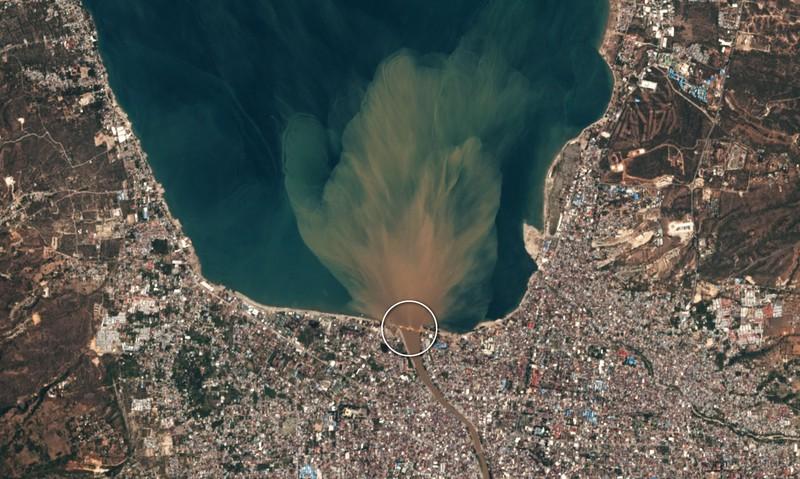 Chùm ảnh vệ tinh chụp Palu trước và sau động đất, sóng thần - ảnh 5