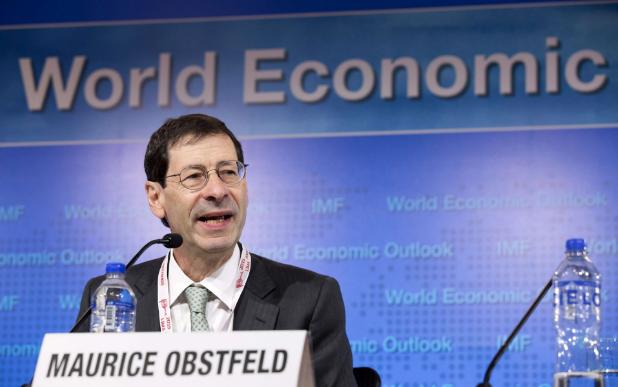 Nhà kinh tế trưởng IMF Maurice Obstfed lo ngại kinh tế toàn cầu bị ảnh hưởng vì xung đột thương mại Mỹ-Trung. Ảnh: AFP