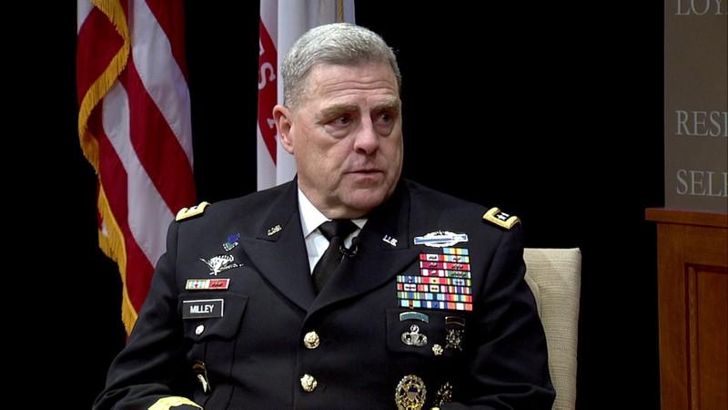Tướng Mark Milley – Tham mưu trưởng Lục quân có thể sẽ không được đề cử vị trí Chủ tịch Hội đồng Tham mưu trưởng. Ảnh: YOUTUBE