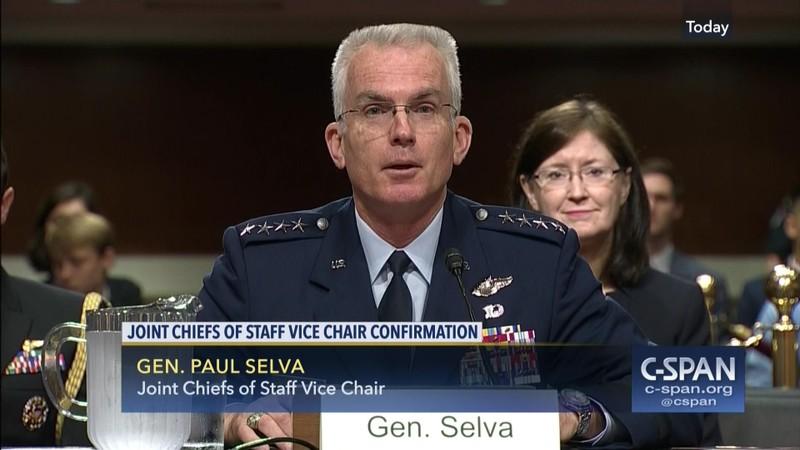 Tướng bốn sao Paul Selva, Phó Chủ tịch Hội đồng Tham mưu trưởng liên quân Mỹ sắp về hưu năm 2019. Ảnh: C-SPAN