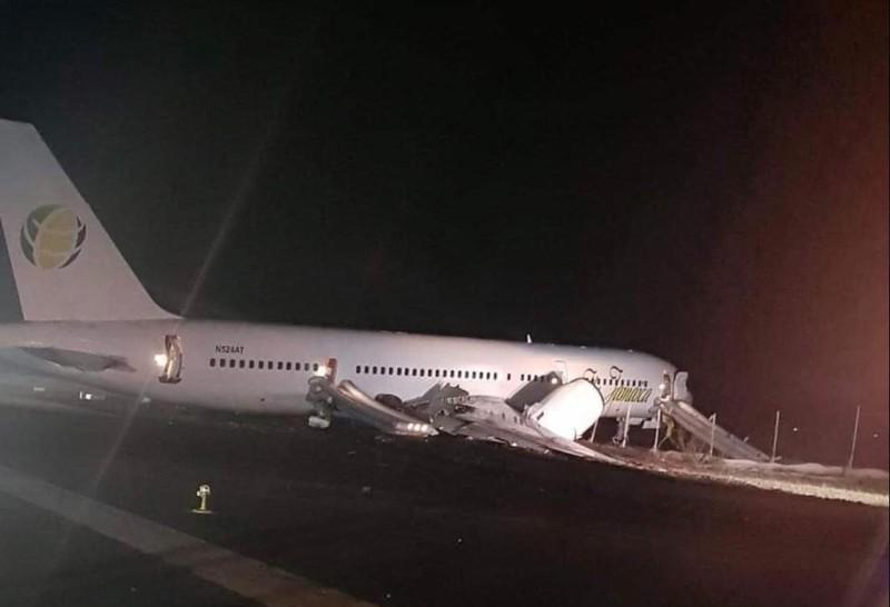 126 người trên máy bay thoát chết trong gang tấc. Ảnh: TWITTER