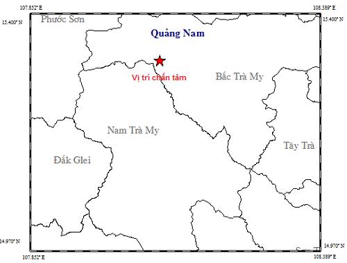 Quảng Nam xảy ra hai trận động đất liên tiếp - ảnh 1