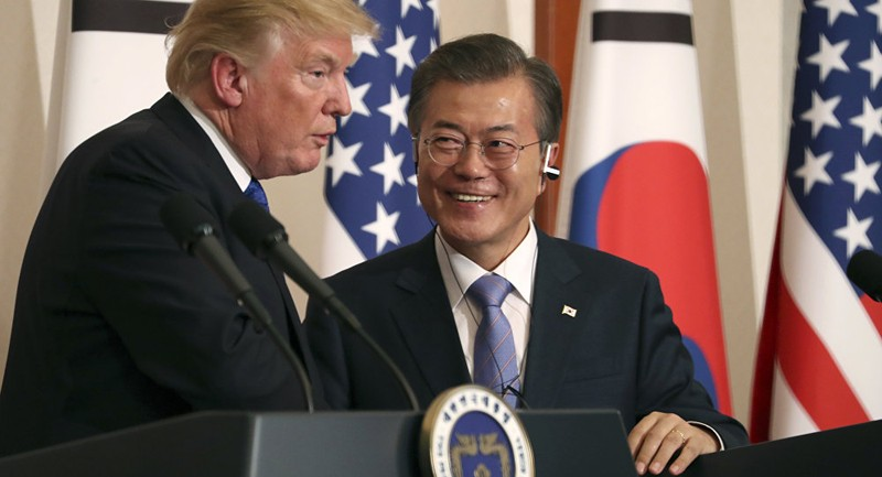 Tổng thống Moon: Ông Trump xứng đáng nhận Nobel Hòa bình - ảnh 1