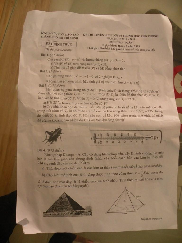 Chính thức công bố đáp án văn và toán tuyển sinh lớp 10 - ảnh 4